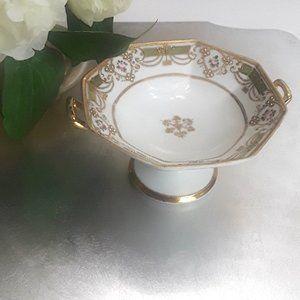 Hand Painted Nippon Porcelain Little Pedestal Dish